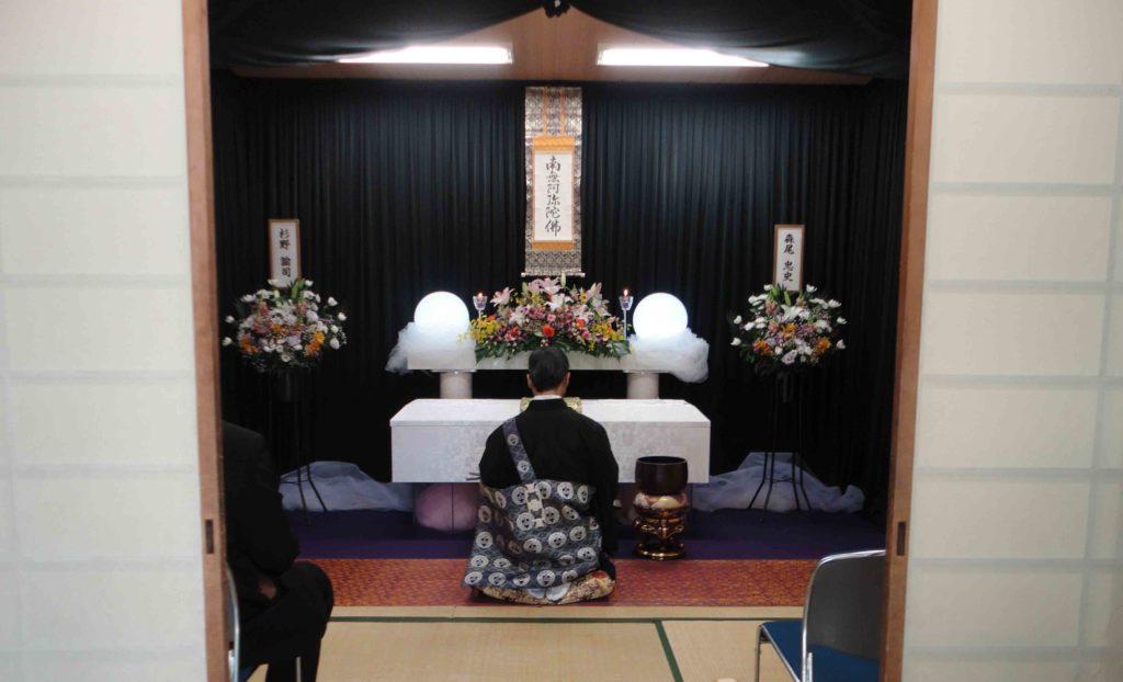 浪速区の生活保護の方が小林斎場で葬儀費用の負担なしでおこなった際に実際の葬儀風景のお写真