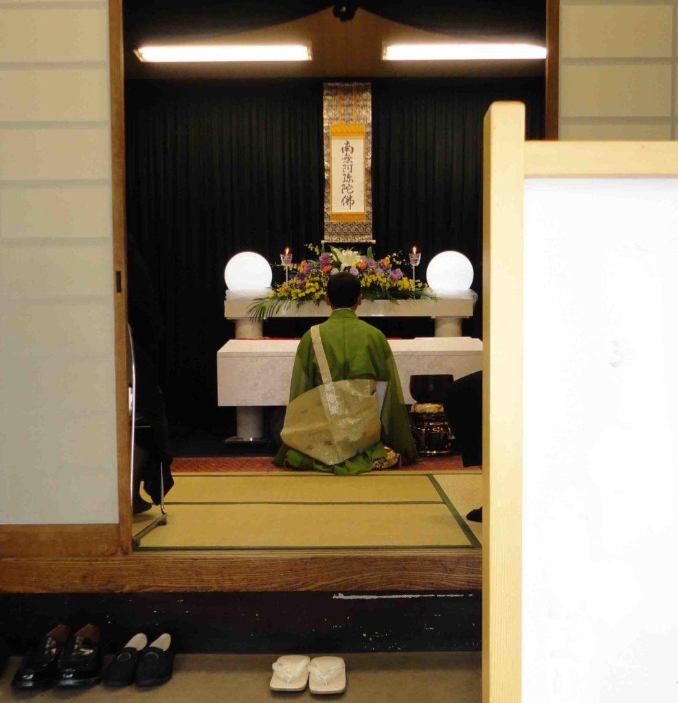 小林斎場でおこなった福祉葬での葬儀風景